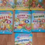 Книги с наклейками, развивающая литература для детей, занятия с мамой, книги для детей