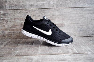 9b23eac1 Кроссовки мужские сетка Nike Free Run 3.0 черные с белым 41-45р: 810 ...