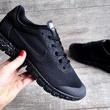 Кроссовки мужские сетка Nike Free Run 3.0 черные 41-45р