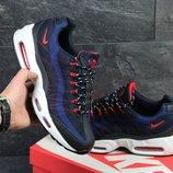 Кроссовки мужские сетка Nike 95 blue/red