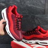 Кроссовки мужские сетка Nike 95 burgundy