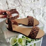 Качественные натуральные кожаные женские босоножки сандалии