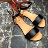 Распродажа Качественные натуральные кожаные женские босоножки сандалии