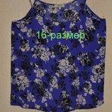 Красивая шифоновая майка блузка 16 размера фирмы papaya