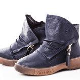 Ботинки для девочки GFB 26, 27, 28, 29, 30, 31 р синий F2229-2 Ботинки для девочки синего цвета, з