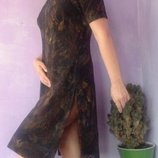 Восточный стиль красивое платье шифоновое платье на подкладке