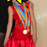 Очень красивый бейсик рост 104-116 бейзик платье для танцев танцевальное платье