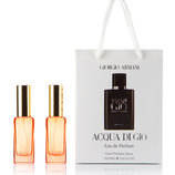 Acqua di Gio PROFUMO Giorgio Armani 2 по 20 мл в подарочной упаковке для мужчин