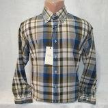 Мужская рубашка в клетку с длинным рукавом H.E. by Mango.
