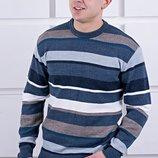Красивый мужской свитер в полоску