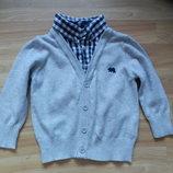 Фирменная кофта свитер Rebel малышу 9-12 месяцев состояние отличное