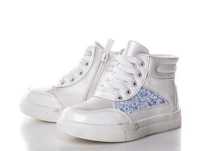 Ботинки для девочки Солнце 27, 28, 29, 30, 31, 32 р белый 8F082-2С Ботинки для девочки розового цв