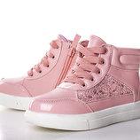 Ботинки для девочки Солнце 27, 28, 29, 30, 31, 32 р розовый 8F082-2P Ботинки для девочки розового