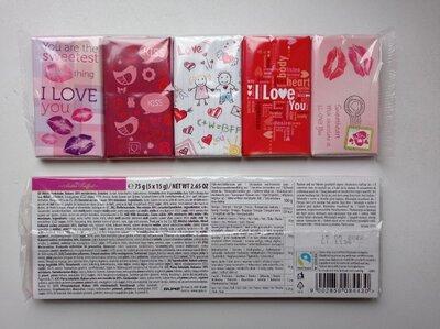 Шоколад Валентинка ко Дню Влюбленных молочный 75 г 5 15г