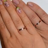 Обручальное серебряное кольцо со вставками из золота Обр-1