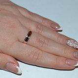 Обручальное кольцо серебряное с золотыми накладками Обр-4