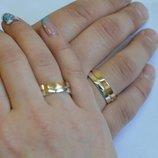 Обручальное кольцо из серебра Обр8