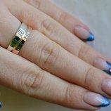 Серебряное обручальное кольцо Обр7