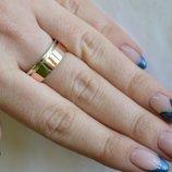 Серебряное обручальное кольцо с золотом Обр10