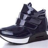 Ботинки для девочки GFB 31, 32, 33, 34, 35, 36 р синий FL69 Ботинки для девочки спортивного стиля