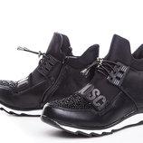 Ботинки для девочки GFB 32, 33, 34, 35, 36, 37 р черный E3320-1 Ботинки для девочки черного цвета,