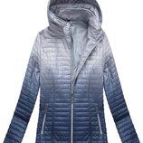 Женская куртка омбре больших размеров