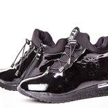 Ботинки для девочки Солнце 32, 33, 34, 35, 36, 37 р черный V2-21 Ботинки для девочки черного цве