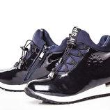 Ботинки для девочки Солнце 32, 33, 34, 35, 36, 37 р синий V2-55 Ботинки для девочки синего цвета
