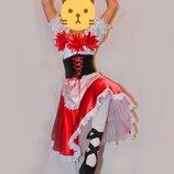 Шикарный костюм для испанских танцев на рост 150-170см тарантелла платье для танцев