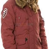 Зимняя женская куртка аляска Altitude W Parka Alpha Industries красная охра