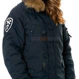 Зимняя женская куртка аляска Altitude W Parka Alpha Industries синяя