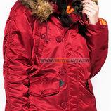 Зимняя куртка аляска N-3B W Parka Alpha Industries красная, USA
