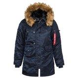 Зимняя женская куртка аляска N-3B W Parka Alpha Industries синяя