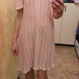 Платье пудра мягкое ажурное
