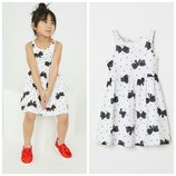 Платье, размер 2-10 лет, сарафан, хлопок, H&M.