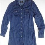 Only. Джинсовое платье рубашка с длинным рукавом. S размер.