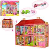 Кукольный домик 6983 с мебелью, 2 этажа и 6 комнат
