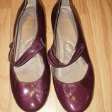 кожаные лак туфельки. кларкс актив эир. размер 4
