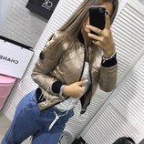 Женская куртКА Бомбер короткая без капюшона 9 Цветов