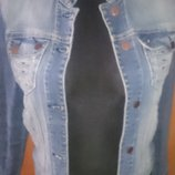 стильна голуба курточка джинс р38 Red Herring