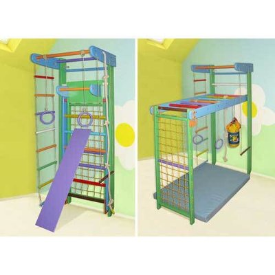Уголок Трансформер Буратино Полный Комплект с детским турничком и доской