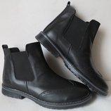 Мужские стильные ботинки Timberland челси натуральная кожа оксфорд men