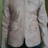 Кожаная куртка пиджак ветровка курточка 134 р.