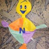 Слюновпитывающая игрушка для новорожденных игрушка платочек сплюша