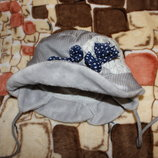 демисезонная шапка-шляпка dembohause 50 р большемерит