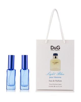 Dolce & Gabbana Light Blue Pour Homme в подарочной упаковке 2шт по 20мл для мужчин