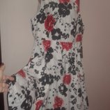 англ 24 коттон новое платье большой размер Black butterfly