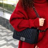 Сумка клатч сумочка трендовая с длинной и короткой ручкой