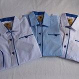 Рубашки трансформер 100% коттон р. 7-12