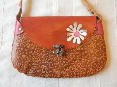 c5e0f19edd16 Кожаная сумка Hand Made с цветком: 250 грн - клатчи и маленькие ...